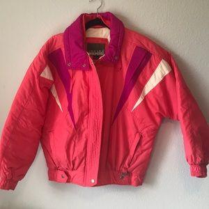 Vintage retro bright puffer coat